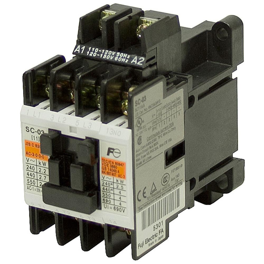120 Vac 20 Amp 4 Pole Contactor Sc 4nc0a 10